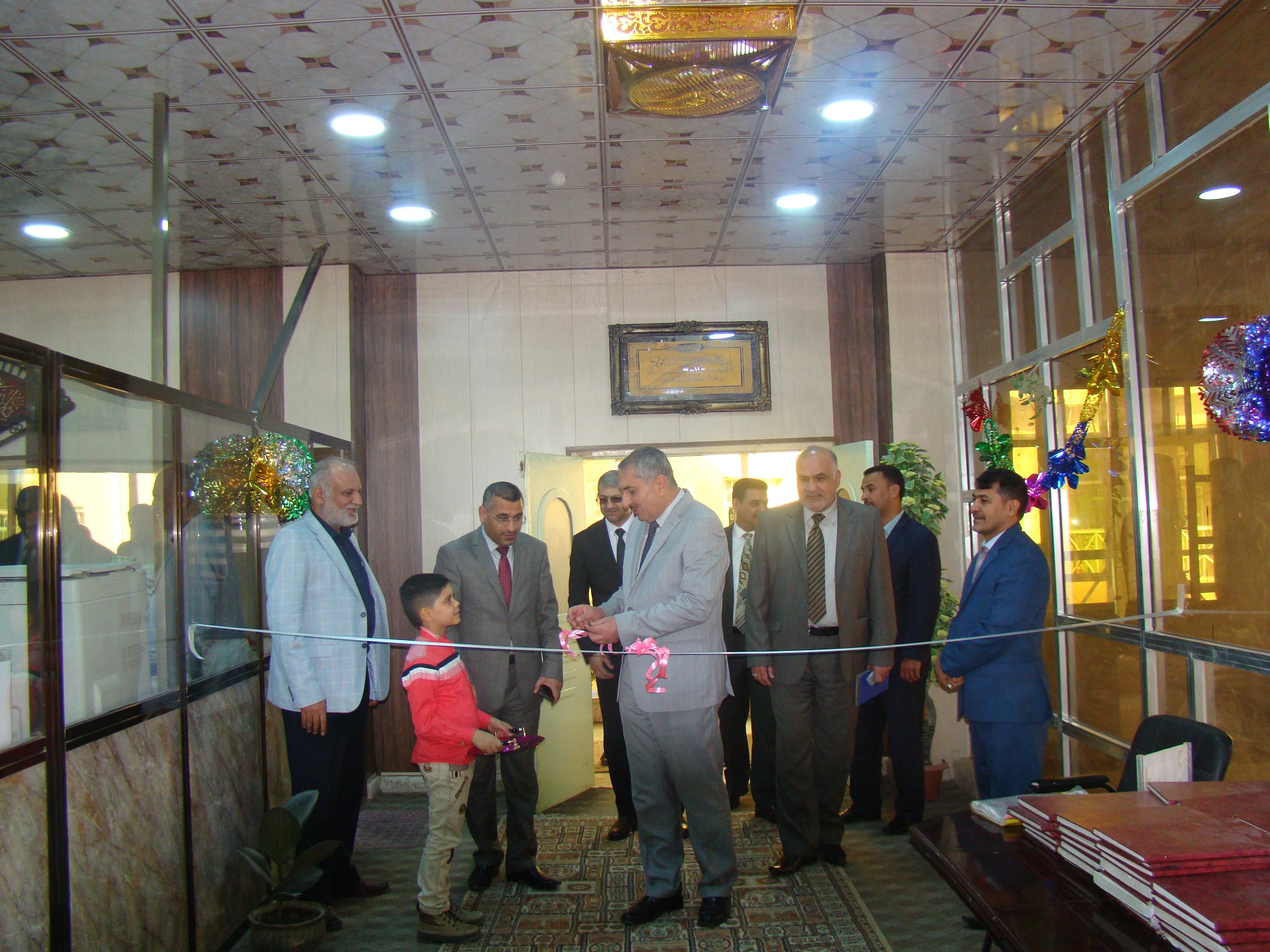 رئيس جامعة كربلاء يفتتح مكتبة كلية القانون المطورة